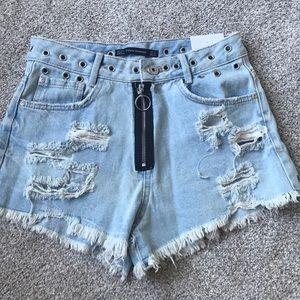 NEW Zara trf cut off shorts
